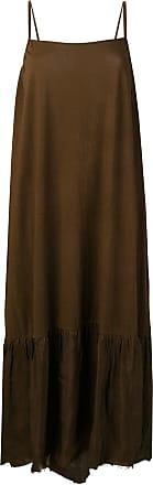 Uma Wang spaghetti strap dress - Brown