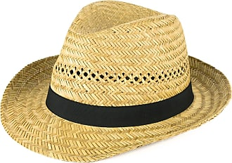Hat To Socks Straw Fedora Hat with Black Grosgrain Band