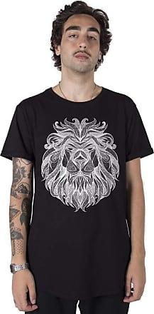 Stoned Camiseta Longline Tribal Lion - Llntrilion-pt-01