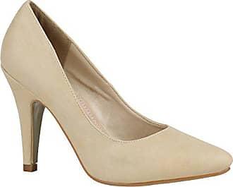a9fbb6609d5c98 Stiefelparadies Damen Pumps Elegante High Heels Spitze Schuhe Office 157115  Nude Cabanas 40 Flandell