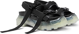 Rick Owens Tractor Webbing-trimmed Leather Sandals - Black