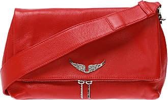 Zadig & Voltaire Rock Grained Shoulder Bag Womens Red