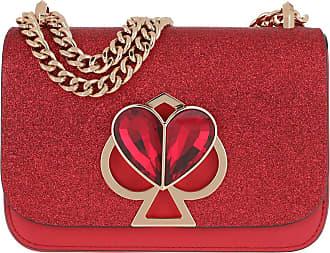 Kate Spade New York Nicola Glitter Twistlock Small Chain Shoulder Bag Hot Chili Umhängetasche rot