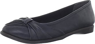 Easy Street Womens Giddy Ballet Flat,New Navy,8 N US