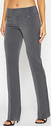 Alloy Apparel Chelsea Slim Bootcut Pants for Tall Women Khaki Size 13/32 - Polyester/Spandex