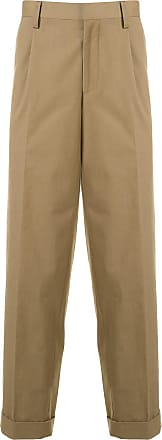 Kolor pleated detail cropped trousers - Brown
