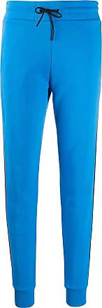 Rossignol striped-side skinny track pants - Blue