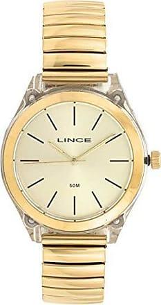 Lince Relógio Lince Feminino Ref: Lrg4484p C1kx Acrílico Dourado