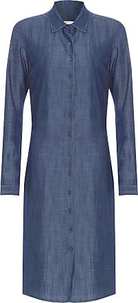 Dudalina Vestido Chemise Jeans Com Amarração - Azul