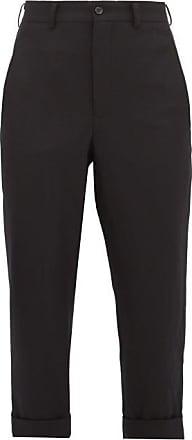 Comme Des Garçons Comme Des Garçons Comme Des Garçons - Wool Straight-leg Cropped Trousers - Womens - Black
