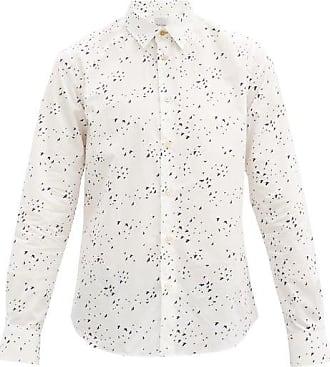 Paul Smith Swallow-print Cotton-poplin Shirt - Mens - White Black