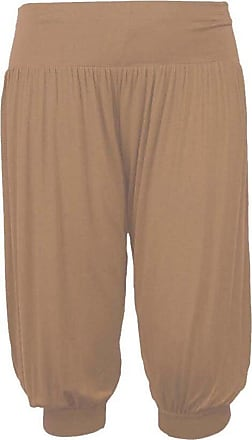 ZEE FASHION New Ladies Plus Size Ali Baba Baggy Stretch Fit Shorts Womens Plain Cropped Harem Trouser Pants UK Size 8-26