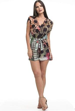 Clara Arruda Macaquinho Clara Arruda Cintura Laço Estampado 80033 - P - Geometrico