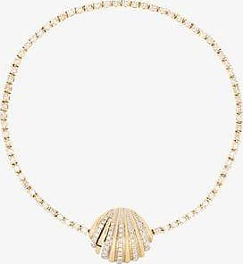 Yvonne Léon Womens 18k Yellow Gold Diamond Shell Bracelet