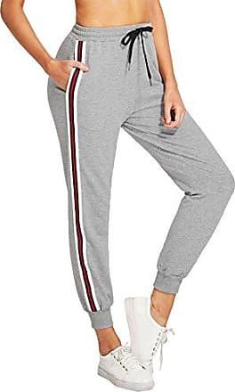 DIDK Damen Jogginghose Cut and Sew Sporthosen Sweathose Farbblock mit Elastischer Bund