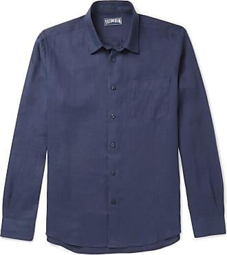 Vilebrequin Caroubis Linen Shirt - Navy