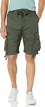3X-Large Wheat New Southpole Big and Tall Mens Jogger Shorts with Cargo Pockets in Solid and Camo Colors