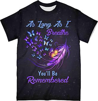 NA Butterfly As Long As I Breath Alzheimer Awareness 3D Shirt