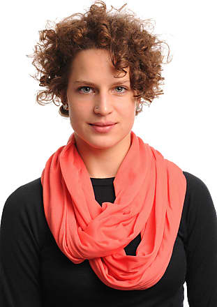 Liss Kiss Coral Soft Cotton Snood Scarf - Pink Plain Designer Snood