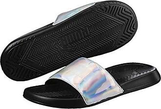 6cb73d0018aa Puma Mens Popcat Slide Sandal Black Silver