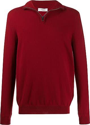 Pringle Of Scotland Suéter em tricô de cashmere com zíper na gola - Vermelho
