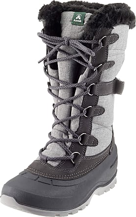 kamik SNOVALLEY2 Womens Snow Boots, Grey (Charcoal-CHA), 4 UK (37 EU)