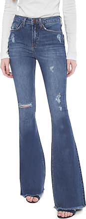 Calvin Klein Jeans Calça Jeans Calvin Klein Jeans Flare Destroyed Azul