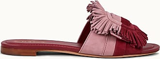 Tod's Sandale aus Veloursleder, LILA,BORDEAUX, 35 - Shoes
