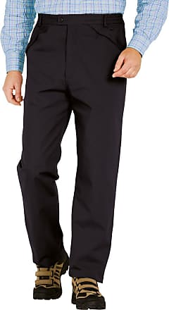 Chums Mens Fleece Lined Thermal Water Resistant Outdoor Trouser Pants Black 38W / 33L