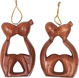 Novica HD0018 Sweet Kiss (Pair) Wood Ornaments