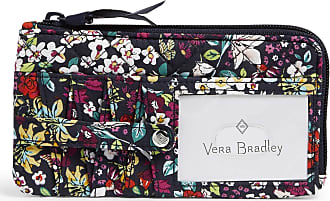 Vera Bradley Womens Signature Cotton RFID Ultimate Card Case Wallet, Itsy Ditsy, One size