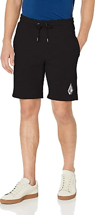 Volcom Mens Deadly Stns FLC Sht Casual Shorts, Black, L