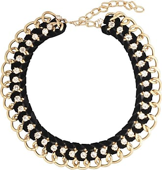 Wildcat Gold Black Braided Jewelled Necklace
