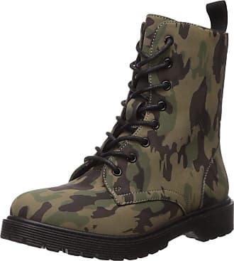 Yoki Womens Kari Combat Boot, Camouflage, 7 UK