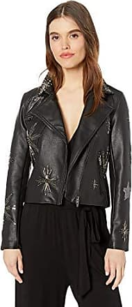 BLANKNYC Womens Cable Knit Vegan Leather Jacket
