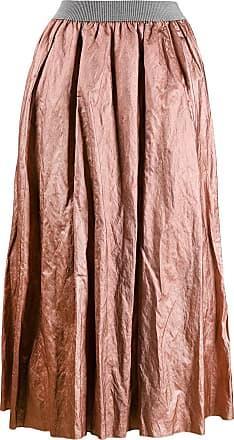 Fabiana Filippi crumpled midi skirt - PINK