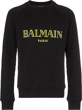 Balmain logo crew neck sweatshirt - White
