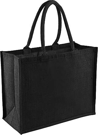 Westford Mill Classic Jute Shopper Bag (21 Litres) (One Size) (Graphite Grey/Graphite Grey)