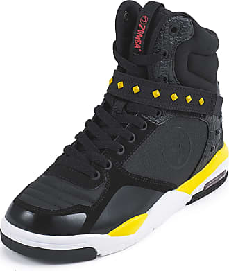 Zumba Air Classic Remix High Top Fitness Workout Dance Shoes for Women, Black Studs, 2.5 UK