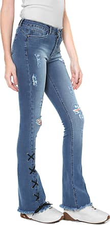 Planet Girls Calça Jeans Planet Girls Flare Lace Up Azul
