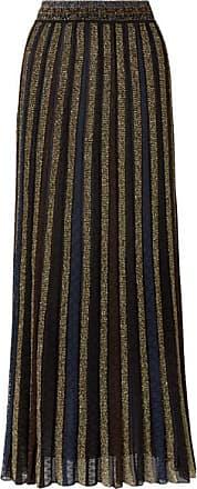 Missoni Striped Metallic Crochet-knit Maxi Skirt - Black