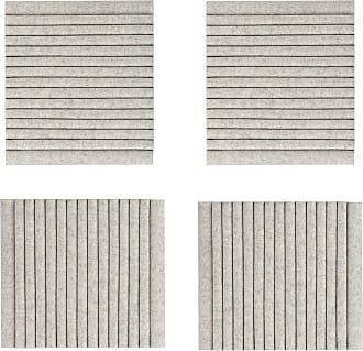 Hey-Sign Welle Akustikelement Wandmodul 4er Set - marmorgrau/Filz in 3mm Stärke/LxBxH 40x40x9cm/mit Wandhalterungen