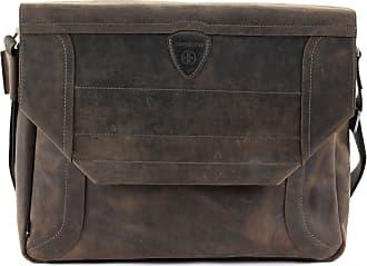 Messenger tasche Harrison Large Aus Quer Genarbtem Leder