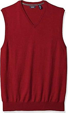 Izod Mens Big and Tall Premium Essentials Solid V-Neck 12 Gauge Sweater Vest, New Biking red, 5X-Large