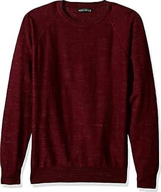 J.crew Mens Textured Cotton Crewneck Sweater, Haether Burgundy, XXL
