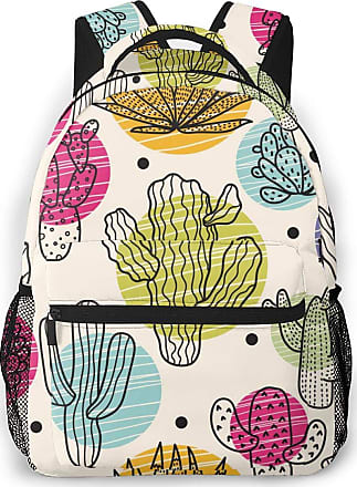 Not Applicable Clothing Cute Colorful Cactus Mens Laptop Backpack Womens College Casual Lightweight Outdoor Sports Backpack