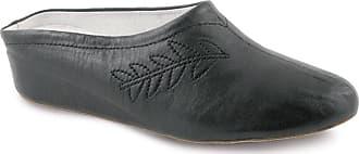 503e419c5 Lunar Amanda Soft Leather Slider Slippers in Black, Gold Or Silver Black 7
