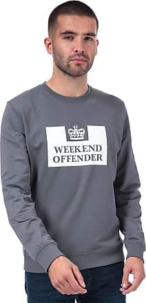Weekend Offender Mens Mens Birra Logo Crew Sweat in Grey - 2XL