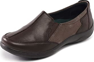 Padders Flute Womens Casual Slip On Shoes 8 Brown Combi