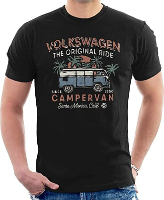 Volkswagen The Original Ride Campervan Mens T-Shirt, Black, XL